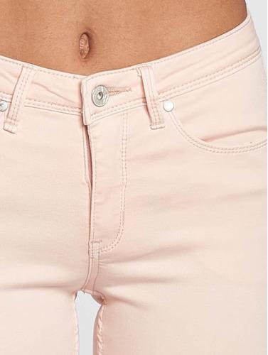 Blend She Damen Skinny Jeans Bright Jazy Crop in rosa
