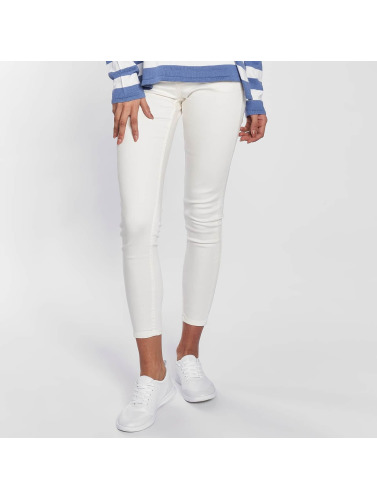 Blend She Damen Skinny Jeans Bright Jazy Crop in weiß