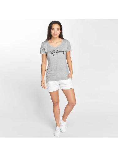 Blend She Damen T-Shirt Vibe R in grau
