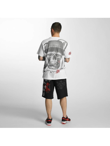 Blood In Blood Out Hombres Camiseta Out Skull Hat in blanco
