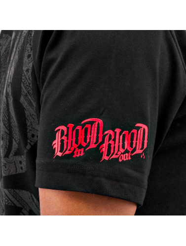 Blood In Blood Out Hombres Camiseta Logo in negro