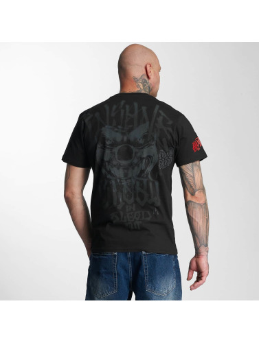 Blood In Blood Out Hombres Camiseta Red Harlekin in negro