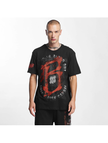 Blood In Blood Out Hombres Camiseta Lifes a Risk in negro