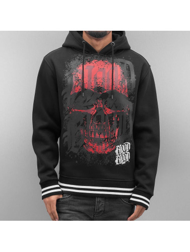 Blood In Blood Out Herren Hoody Red Calavera in schwarz