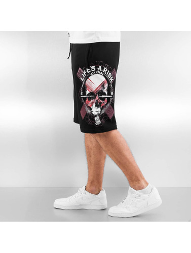 Blood In Blood Out Herren Shorts Art Skull in schwarz