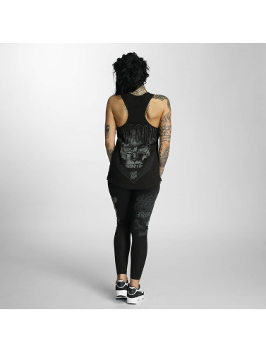 Blood In Blood Out Mujeres Tank Tops Mascarilla in negro