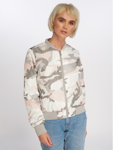 Brave Soul Damen Bomberjacke All Over Camouflage Print in camouflage