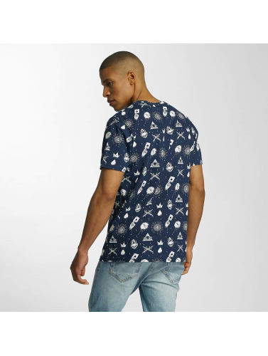 Brave Soul Hombres Camiseta All Over Print in azul
