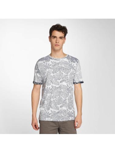Brave Soul Hombres Camiseta Magnify in blanco