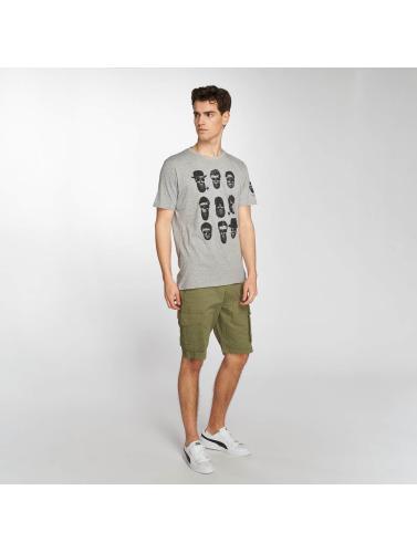 Brave Soul Hombres Camiseta Pogo in gris