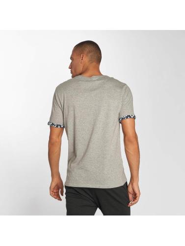Brave Soul Hombres Camiseta Viola in gris