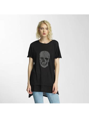 Brave Soul Mujeres Camiseta Hotfix Stud Skull in negro