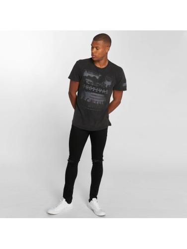 Brave Soul Hombres Camiseta Soul Gig in negro