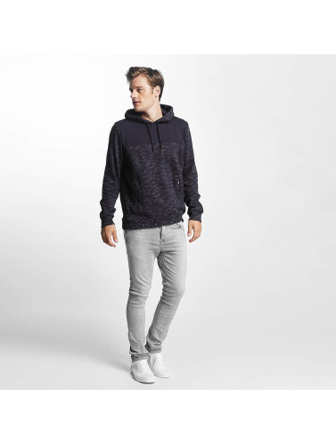 Brave Soul Herren Hoody Fleck Detail To Body in blau