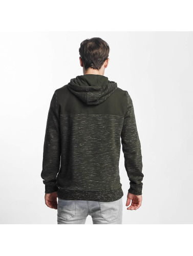 Brave Soul Herren Hoody Fleck Detail To Body Jumper in khaki