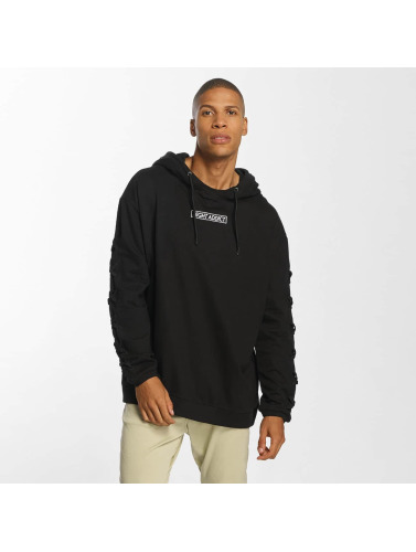Brave Soul Herren Hoody With Heavy Criss in schwarz
