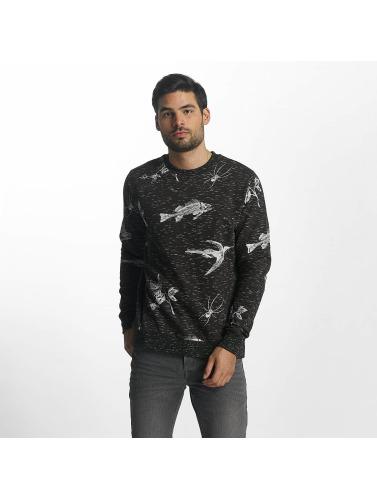 Brave Soul Hombres Jersey Sweatshirt in gris