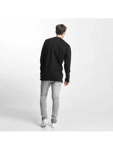 Brave Soul Hombres Jersey Long Line X2 Metal in negro