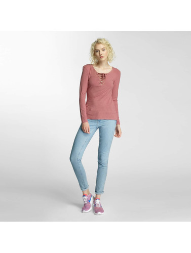 Brave Soul Damen Longsleeve Tie Up in rosa