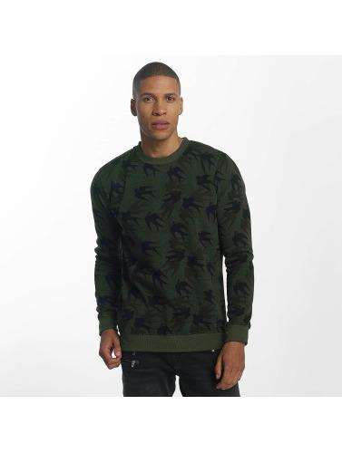 Brave Soul Herren Pullover Sweatshirt Mid in khaki