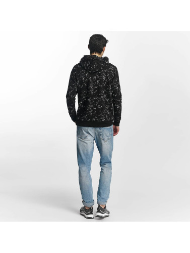 Brave Soul Herren Pullover All Over Print in schwarz
