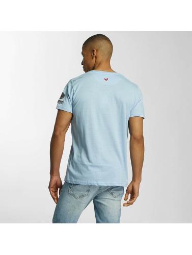 Brave Soul Herren T-Shirt Large Crew Neck in blau