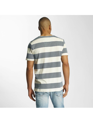 Brave Soul Herren T-Shirt Printed Crew Neck in blau