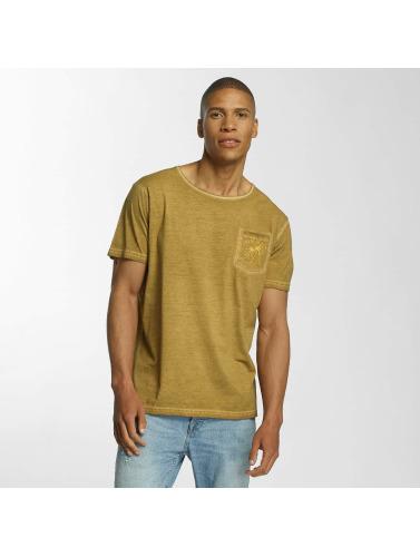 Brave Soul Herren T-Shirt Crew Neck in gelb