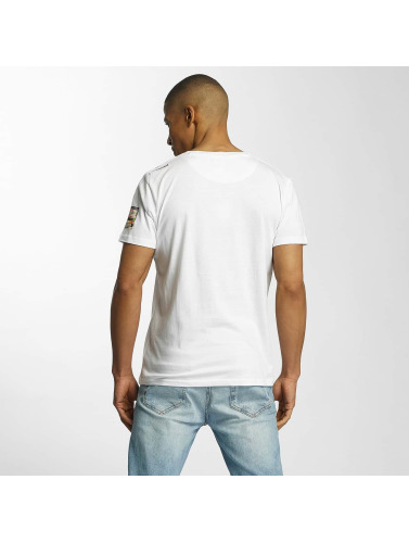 Brave Soul Herren T-Shirt All Over Crew Neck in weiß