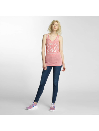 Brave Soul Mujeres Tank Tops Burn Out in rosa