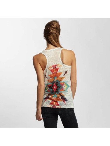 Brave Soul Damen Tank Tops Sublimation in weiß