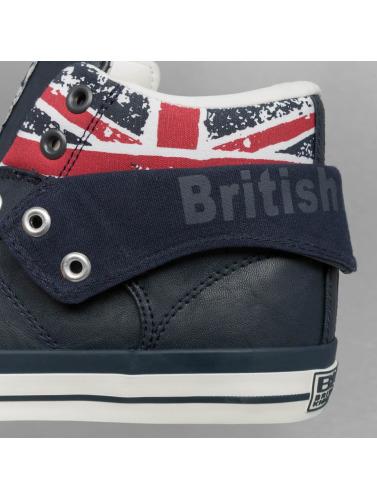 British Knights Hombres Zapatillas de deporte Roco PU Textile in azul