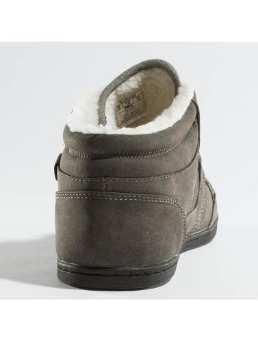 British Knights Hombres Zapatillas de deporte Re-Style Mid PU WL in gris