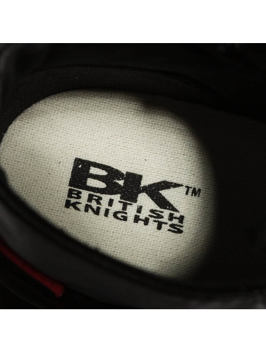 British Knights Hombres Zapatillas de deporte Slider PU Suede in negro