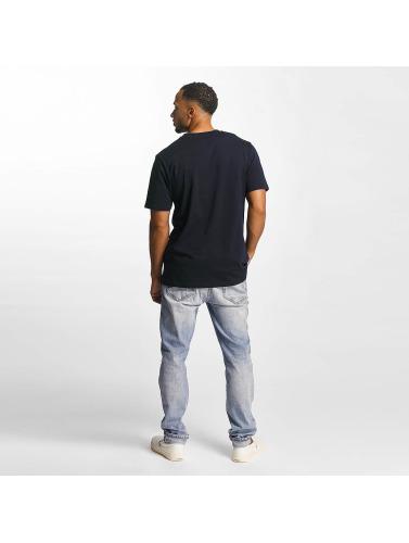 Carhartt WIP Hombres Camiseta Script in azul