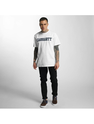 Carhartt WIP Hombres Camiseta College in blanco