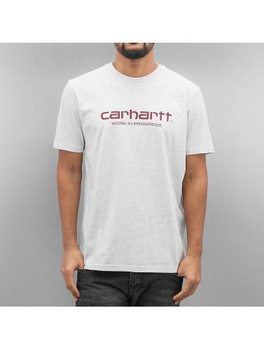 Carhartt WIP Hombres Camiseta S/S Wip Script in gris