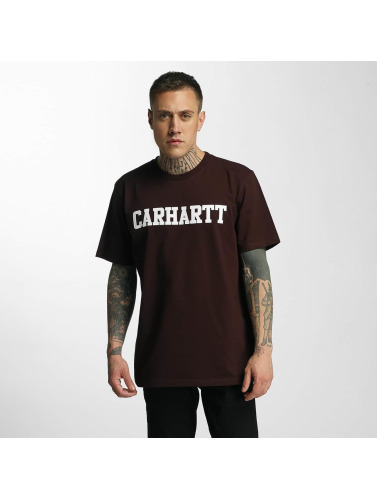 Carhartt WIP Hombres Camiseta College in rojo