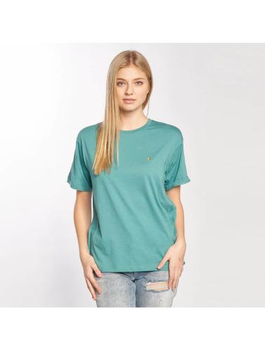 Carhartt WIP Mujeres Camiseta Chase in turquesa