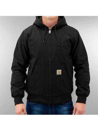 Carhartt WIP Hombres Chaqueta de invierno Dearborn Canvas Active in negro