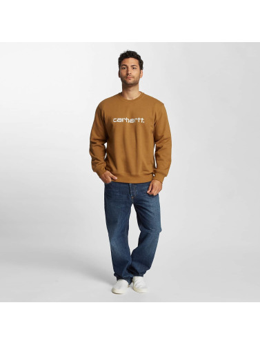 Carhartt WIP Hombres Jersey frequenzy in marrón