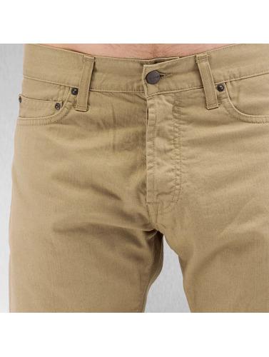 Carhartt Wip Herren Straight Fit Jeans Oakland In Beige