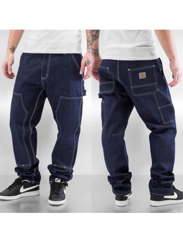 Carhartt WIP Herren Straight Fit Jeans Ruck Double Knee in blau