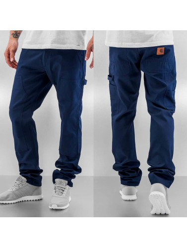 Carhartt WIP Herren Straight Fit Jeans Lincoln Double Knee in blau