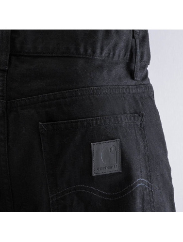 Carhartt WIP Herren Straight Fit Jeans Chicago Texas in schwarz