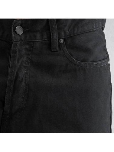 Carhartt WIP Herren Straight Fit Jeans Chicago Texas in schwarz