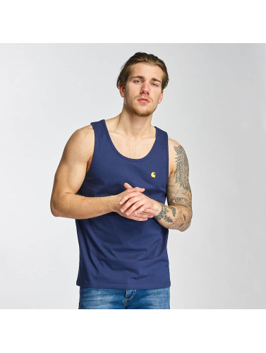 Carhartt WIP Hombres Tank Tops Chase in azul