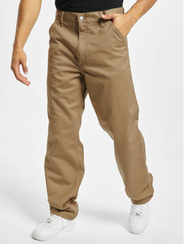 Carhartt WIP Hombres Vaqueros anchos Denison Twill Simple in beis