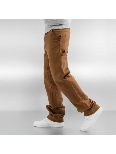 Carhartt WIP Hombres Vaqueros rectos Turner Double Knee in marrón