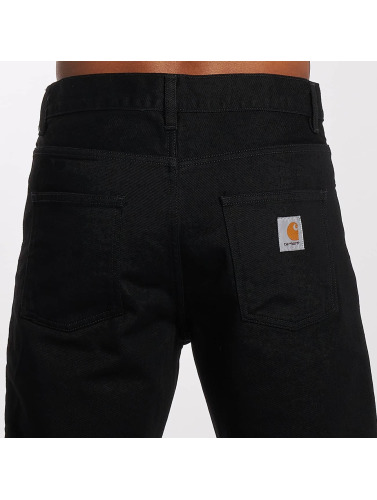 Carhartt WIP Hombres Vaqueros rectos Maitland Newel Relaxed Tapered Fit in negro